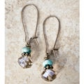 Vintage Smokey Quartz/ Turquoise Earrings