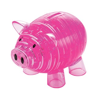 Bepuzzled Deluxe Piggy Bank 3D Crystal 93-piece Puzzle