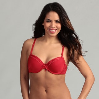 247 Frenzy Women's Red Polka Dot Bra