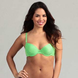 247 Frenzy Apple Green Lace Molded Bra