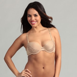 247 Frenzy Nude Lace Molded Bra