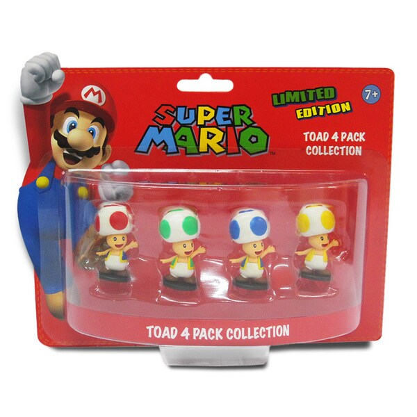Super Mario Brothers 2-inch Toad Mini-figure Set