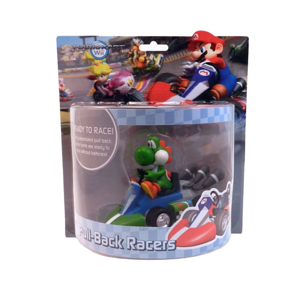 Super Mario Brother Yoshi Large Pull Back Racer Car