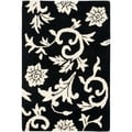 Handmade Soho Sillo Black New Zealand Wool Rug (2'6 x 4')