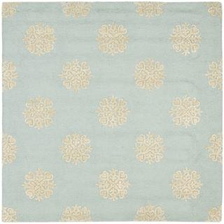 Safavieh Handmade Soho Medallion Light Blue Wool Rug (8' Square)