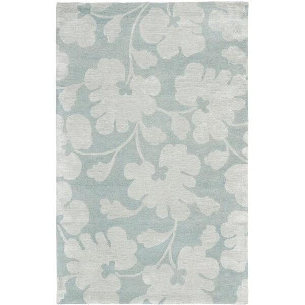 Safavieh Handmade Shadows Light Blue New Zealand Wool Rug (3'6 x 5'6')