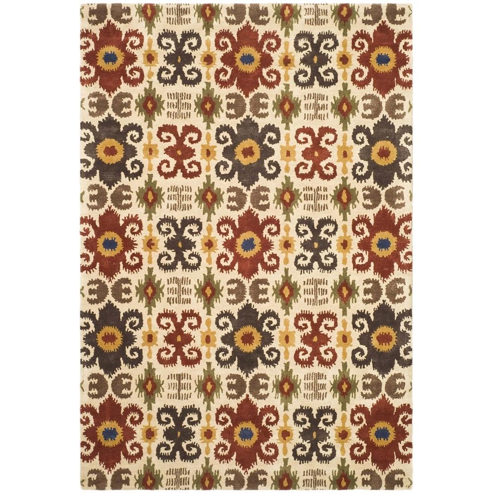 Safavieh Handmade Festive Ivory New Zealand Wool Rug (9'6 x 13'6)