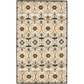 Handmade Gramercy Ivory New Zealand Wool Rug (7'6 x 9'6)