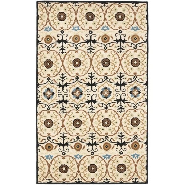 Safavieh Handmade Gramercy Ivory New Zealand Wool Rug (8'3 x 11')