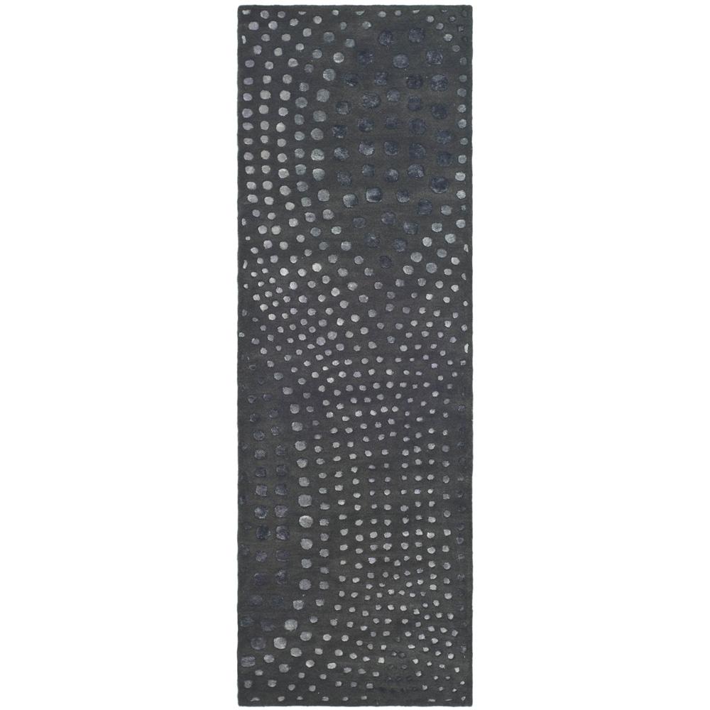 Safavieh Handmade Soho Deco Wave Dark Grey Wool Rug (2'6 x 10')