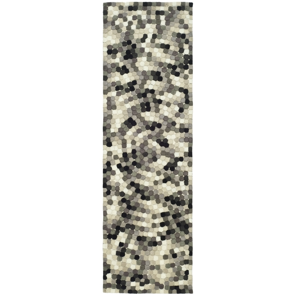 Safavieh Handmade Soho Mosaic Black New Zealand Wool Rug (2'6 x 14')