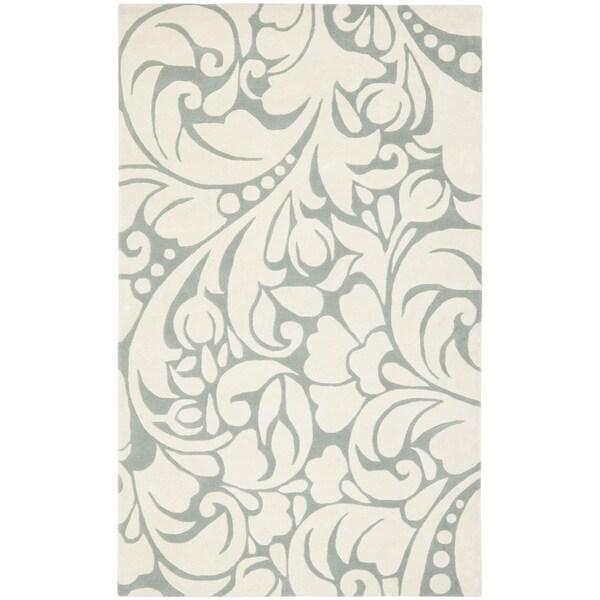 Safavieh Handmade New Zealand Wool Flow Ivory Rug (7'6 x 9'6)