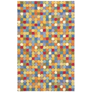 Safavieh Handmade Soho Candies Black/ Multi Wool Rug (8'3 x 11')
