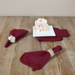 Crochet Lace Brick Napkins (Set of 4)
