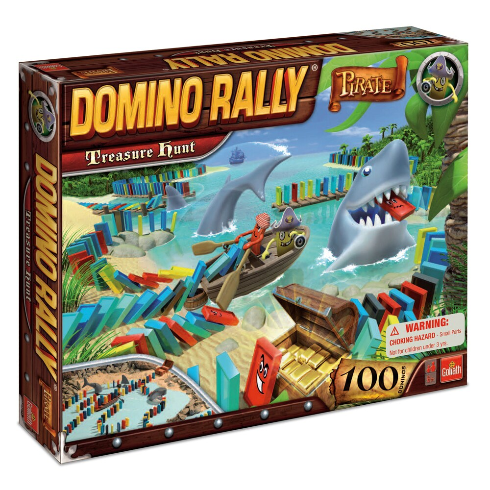 Domino Rally Pirate Treasure Hunt