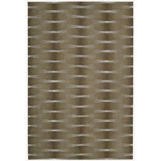 Nourison Hand-tufted Moda Brown Geometric Rug (7'6 x 9'6)