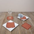 Terracotta Crochet Lace Coasters (Set of 4)
