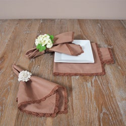 Crochet Mocha Lace Napkins (Set of Four)