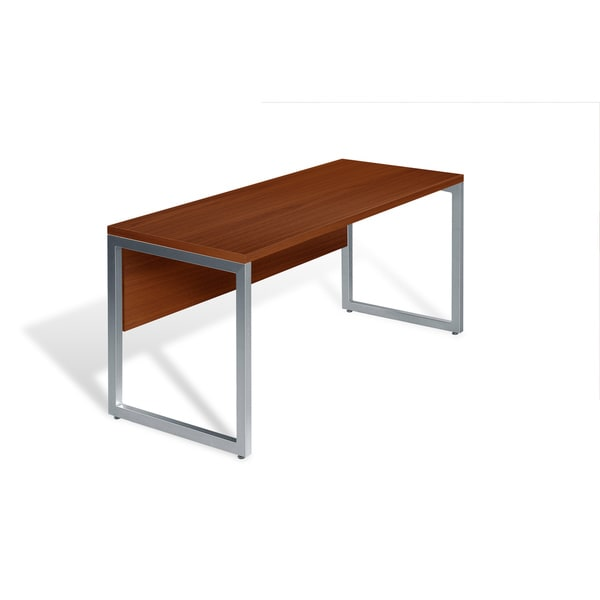 Wood/ Aluminum 48-inch Cherry Computer Table