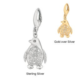 Silver Diamond Penguin Charm