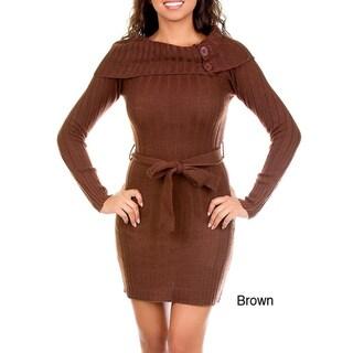 Stanzino Women's Knit Tie Sash Dress