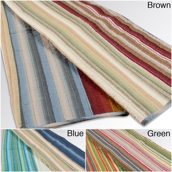 Grand Bazaar Dill Striped Throw