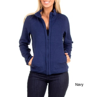 Stanzino Women's Zip Up Basic Fleece Jacket