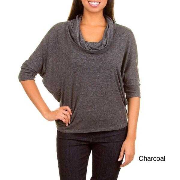 Stanzino Women's 3/4 Sleeve Cowl Neck Knit Top