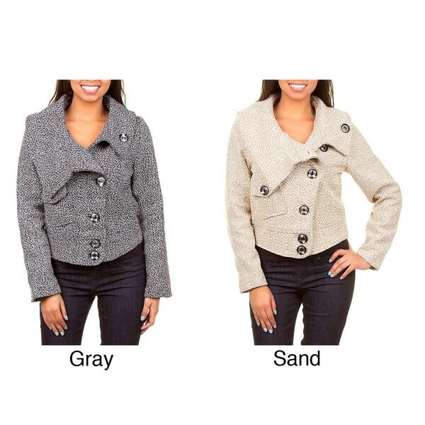 Stanzino Women's Tweed Dimensional Coat
