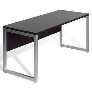 Wood/ Aluminum 48-inch Espresso Computer Table