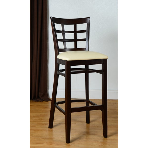 Lattice Bach Beech Wood Barstool