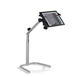 Adjustable Black Reading Table for Tablets