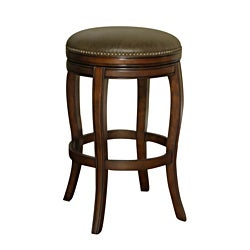 Wenden Tall 34-inch Brown Leather Swivel Bar Stool