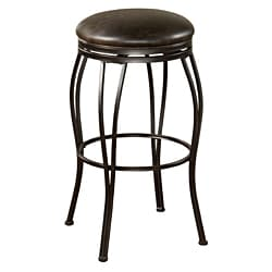 Rockvale Coco Leather Swivel Bar Stool