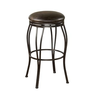 Rockvale Coco Leather Swivel Counter Stool