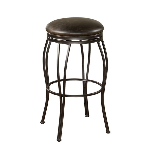 Rockvale Coco Leather Swivel Counter Stool 14756293