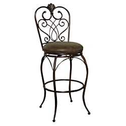 Sierra Clay Leather Swivel Bar Stool