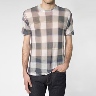 American Apparel Unisex Poly-Cotton Burnout Plaid T-Shirt