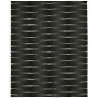 Nourison Hand-tufted Moda Black Geometric Rug (7'6 x 9'6)