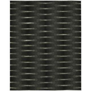 Nourison Hand-tufted Moda Black Geometric Rug (8' x 11')