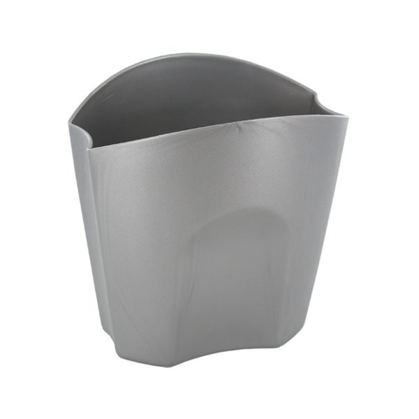 Rubbermaid Nesting Plastic Divided Pencil Cups Silver (Pack of 3)
