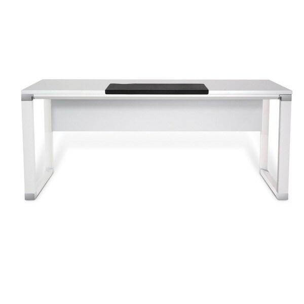Jesper Office 71-inch White Lacquer Executive Desk