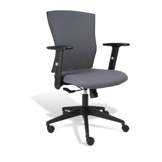 J & K Grey Robin Office Chair with Arms