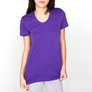 American Apparel Women's XL Purple 50/50 Short Sleeve T-shirt