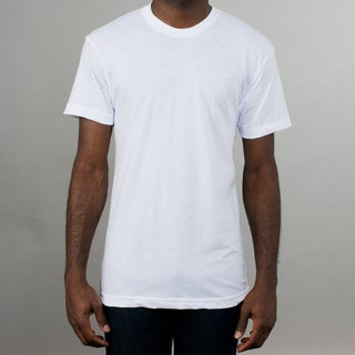 American Apparel White 50/50 Crew Neck T-shirt