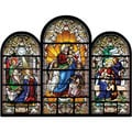 Jigsaw Shaped Puzzle 500 Pieces Stained Glass Triptych