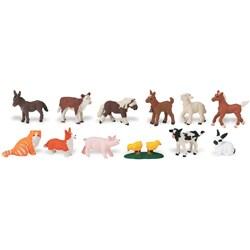 Farm Babies Plastic Miniatures In Toobs