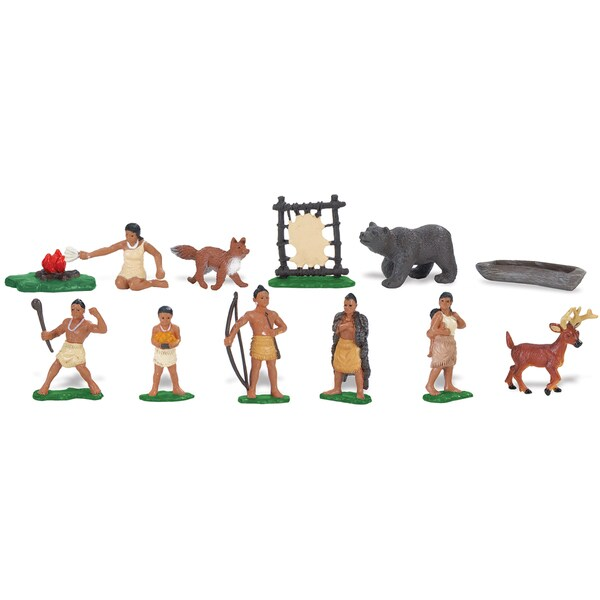 Powhatan Indians Plastic Miniatures In Toobs