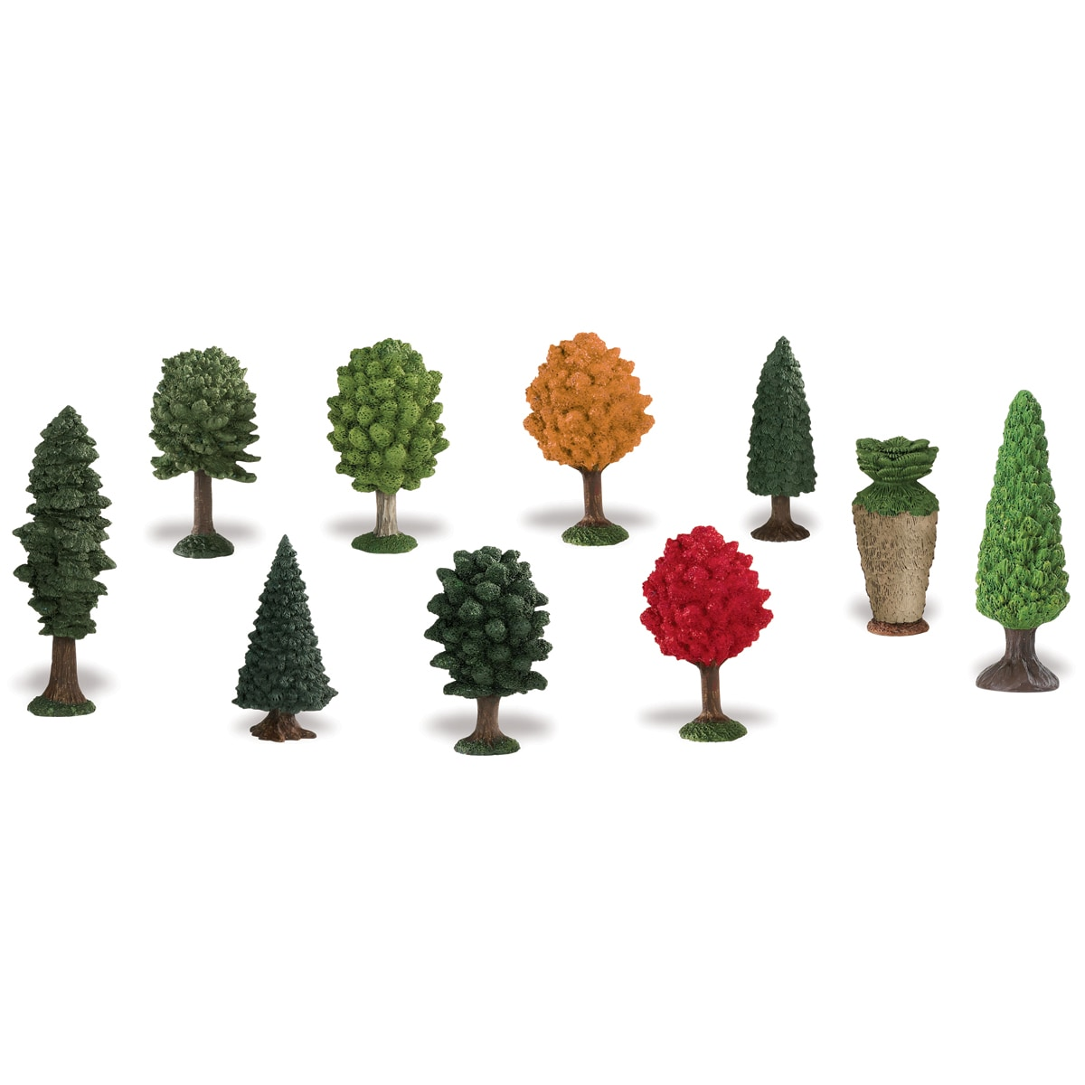 Trees Plastic Miniatures In Toobs