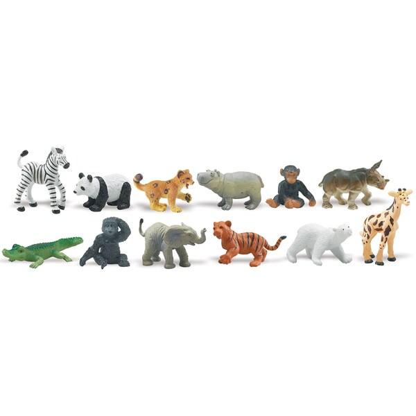Zoo Babies Plastic Miniatures In Toobs